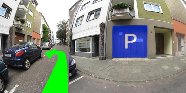 Parkplatz Rubensstraße 30 Köln