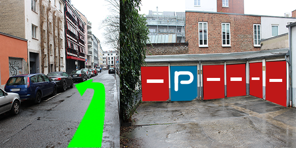 Parkplatz Rubensstraße 26 Köln