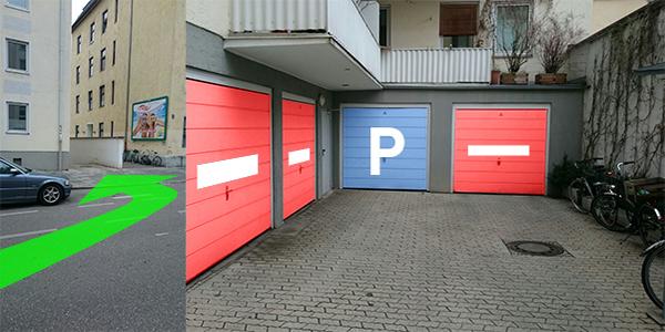 Parkplatz Georgenstraße 45A München