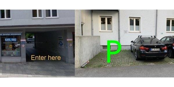 Parkplatz Luisenstraße 61A München